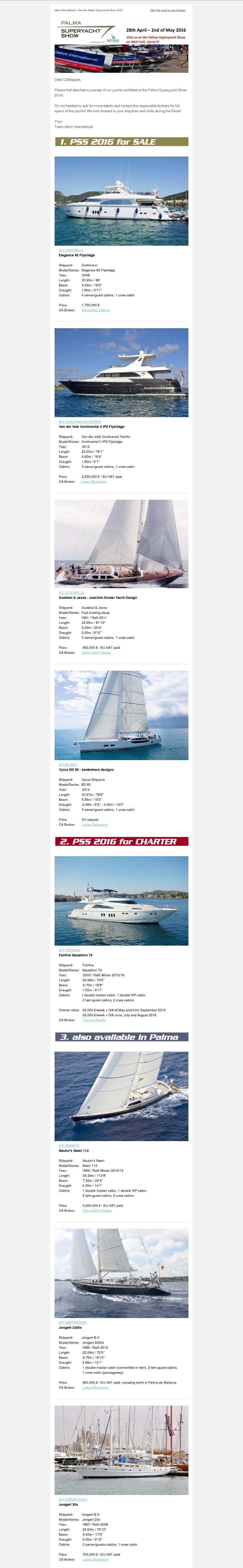Palma Superyacht Show April 2016