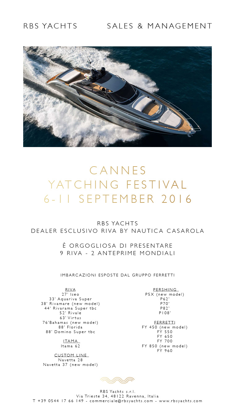 RBS Yachts Cannes Yachting Festival I